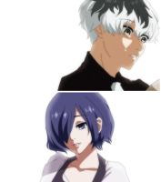 Haise and Touka   Tokyo Ghoul:re by AkiKenshiro