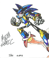 [-OLD-] *SONIC OC*:  Mecha Sonic by Armpit-Warrior
