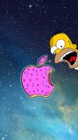 Simpsons iPhone 5 Donut Nebula Wallpaper by LindsayCookie