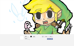 Link facebook graffiti by Kite-Of-Azure-Flame