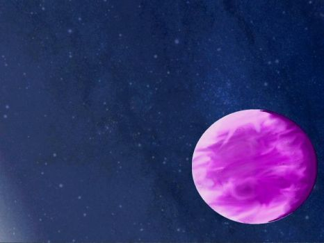 Violet planet by DmitSpace