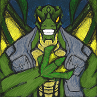 Comic Gargoyle Cross-over: Killer Croc by dragonfire53511