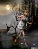 Artemis- Goddess of the Hunt by TheSorceressRaven