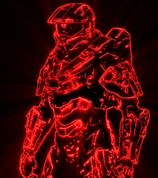 Shiny red master chief by FireyRedPhoenix