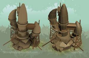 Forest Huts - Large by StormAndy