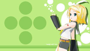 Wallpaper - Rin Kagamine (Vocaloid) - Imagination by miririri