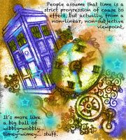 TARDIS (with text) by SeaOfFireflies