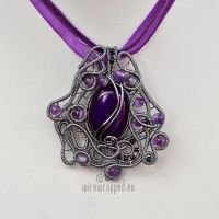 Purple grey asymmetric pendant by ukapala