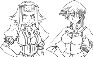 LineArt yugioh GX-5Ds by D3-shadow-wolf