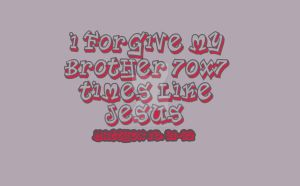 I Forgive My Brother 70x7 t-shirt by ArtNGame215