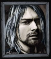 Kurt Cobain Framed by ruv