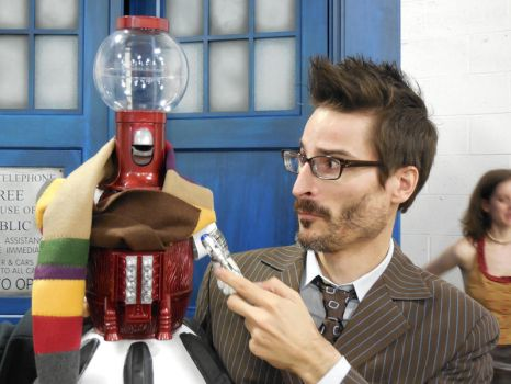 Tom Servo as the 4th Doctor by MasterCharles