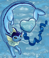 Ocean of my Love - Vaporeon by Sparkleworks