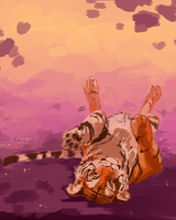 Rolling Tiger by RileyKitty