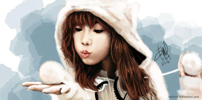 painting - taeyeon SNSD by noireru