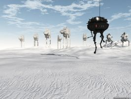 Patrolling Hoth by VickyM72