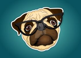 Mopsi the Pug by lauramiclea