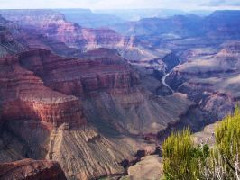 Hazy Grand Canyon by MystiqueDeep