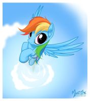 Rainbow Dash Flying 4 by mysticalpha