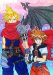 KH-FF7: Cloud and Sora by dagga19