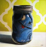 Ugly Doll in a Jar #3 by JessicaEdwards