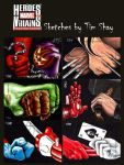 Shay Marvel Hands Only sketch by Dr-Horrible