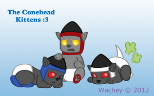 Conehead Kittens by wachey