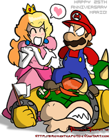 25 years of beatin' Bowser by BrokenTeapot