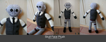 Skull Face Plush by Crystal-Dream