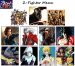 Z Fighters Meme: The Avenging Fighters by WOLFBLADE111