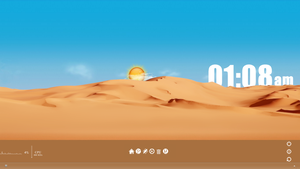 SandClock Rainmeter by solutionall