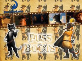 Puss in Boots - Wallpaper by Howie62