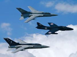 Panavia Tornado F.3 and Hawker Hunter T.7 by Daniel-Wales-Images