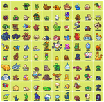 100 neorice monster sprites by Neoriceisgood