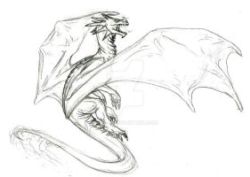 A dragon sketch. by ulven-f