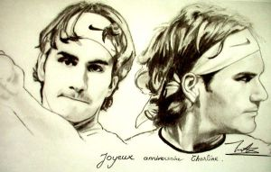 roger federer by kietdrawing