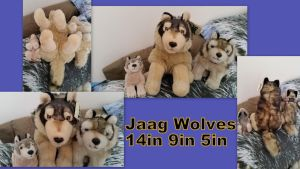 Jaag Wolves 14in 9in and 5in by Vesperwolfy87
