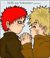 NaruGaara: hello my Valentine2 by faithfulLythari