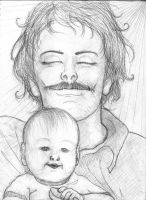 Father and Son by Alvyna