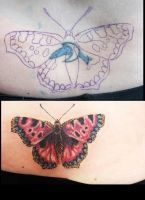 cover up butterfly tattoo by LianjMc