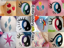 Mane 6 Embroidery Design Value Pack (Photo Ref) by adamlhumphreys