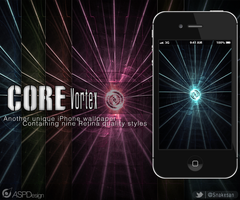 Core Vortex iPhone 4S Wallpaper by Snakesan