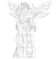 Savage Strike Megazord Lineart by heavenlymythicranger