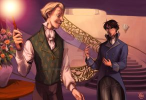 Harry and Draco Commission by flominowa