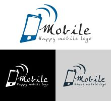 Free Happy Mobile Logo by isfahangraphic