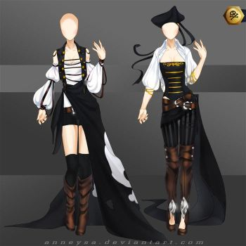 [Closed]Adoptable Outfit (pirates 1-2) by Anneysa