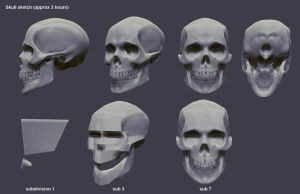 skull speed sculpt by mojette