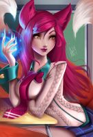 Academy Ahri by Lushies-Art