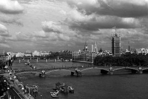 UK England London The River Thames 1970s by BlackWhitePictures