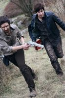 The Walking Dead Cosplay:  Faster! by 0Hidan0